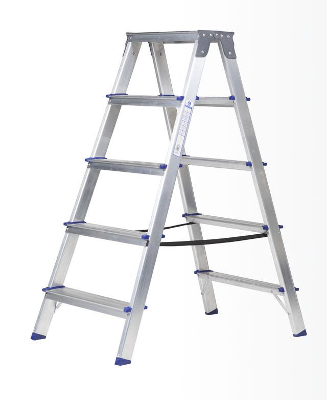 escalera de tijera de doble acceso arcama escaleras